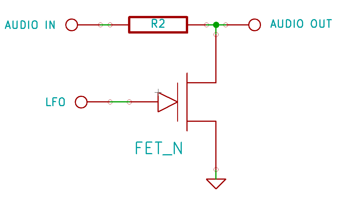 FET transistor in a tension divider